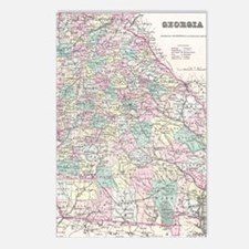 Vintage Map of Georgia (1 Postcards (Package of 8)