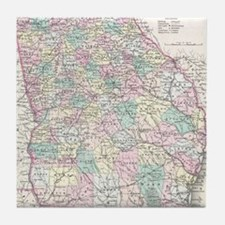 Vintage Map of Georgia (1855) Tile Coaster