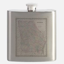 Vintage Map of Georgia (1855) Flask