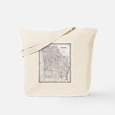 Vintage Map of Georgia (1855) Tote Bag