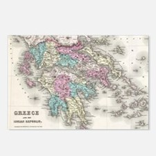 Vintage Map of Greece (18 Postcards (Package of 8)