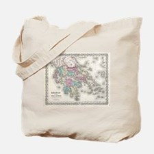 Vintage Map of Greece (1855) Tote Bag
