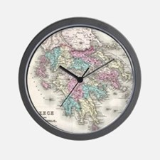 Vintage Map of Greece (1855) Wall Clock
