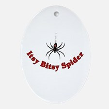 Itsy Bitsy Spider Oval Ornament