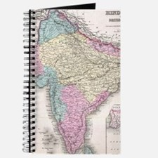Vintage Map of India (1855) Journal
