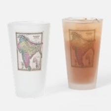 Vintage Map of India (1855) Drinking Glass