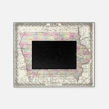 Vintage Map of Iowa (1855) Picture Frame