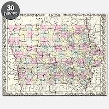 Vintage Map of Iowa (1855) Puzzle