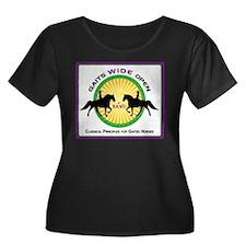 Gaits Wide Open Logo Plus Size T-Shirt