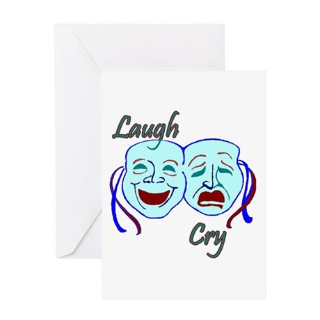 Laugh and Cry Greeting Card