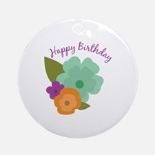 Happy Birthday Ornament (Round)