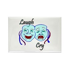 Laugh and Cry Rectangle Magnet (100 pack)
