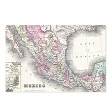Vintage Map of Mexico (18 Postcards (Package of 8)