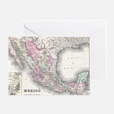 Vintage Map of Mexico (1855) Greeting Card