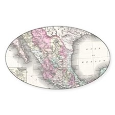 Vintage Map of Mexico (1855) Decal