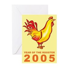 Yellow Rooster Greeting Cards (Pk of 10)