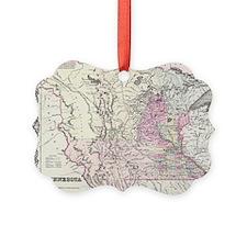 Vintage Map of Minnesota (1855) Ornament