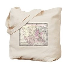 Vintage Map of Minnesota (1855) Tote Bag