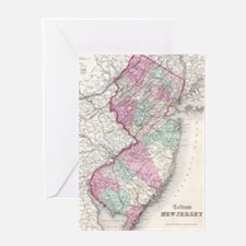Vintage Map of New Jersey (1855) Greeting Card
