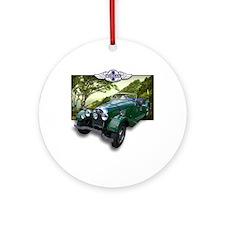 British Racing Green Morgan Ornament (Round)