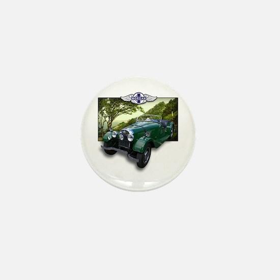 British Racing Green Morgan Mini Button