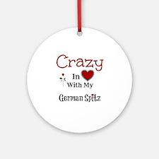 German Spitz Ornament (Round)
