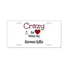 German Spitz Aluminum License Plate
