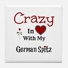 German Spitz Tile Coaster