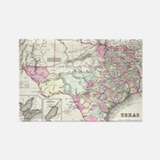 Vintage Map of Texas (1855) Rectangle Magnet