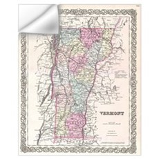 Vintage Map of Vermont (1855) Wall Decal