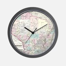 Vintage Map of Wisconsin (1855) Wall Clock