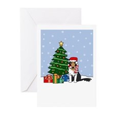 Tri Collie Howling Holiday Greeting Cards (10 Pk)