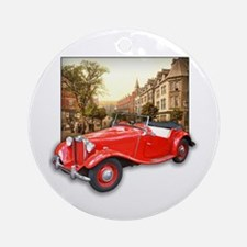 Red MG TD Roadster Ornament (Round)