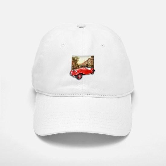 Red MG TD Roadster Baseball Baseball Cap