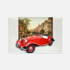 Red MG TD Roadster Rectangle Magnet