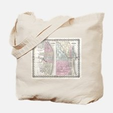 Vintage Map of Chicago and St. Louis (185 Tote Bag
