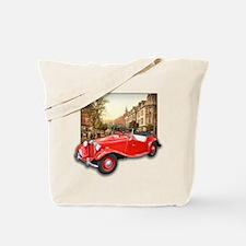 Red MG TD Roadster Tote Bag