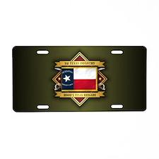 1st Texas Infantry Aluminum License Plate