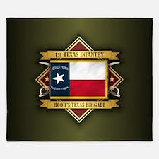 1st Texas Infantry King Duvet