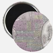 Vintage Map of Philadelphia (1855) Magnet
