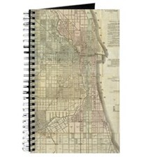Vintage Map of Chicago (1857) Journal