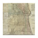 Chicago map Drink Coasters