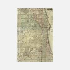 Vintage Map of Chicago (1857) Rectangle Magnet