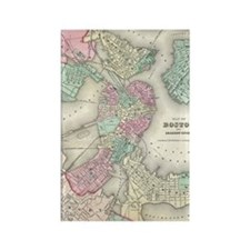 Vintage Map of Boston Harbor (185 Rectangle Magnet