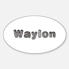 Waylon Wolf Oval Decal