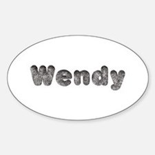 Wendy Wolf Oval Decal