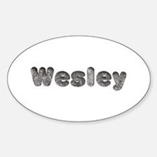 Wesley Wolf Oval Decal