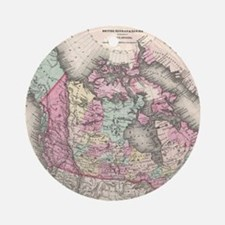 Vintage Map of Canada (1857) Round Ornament