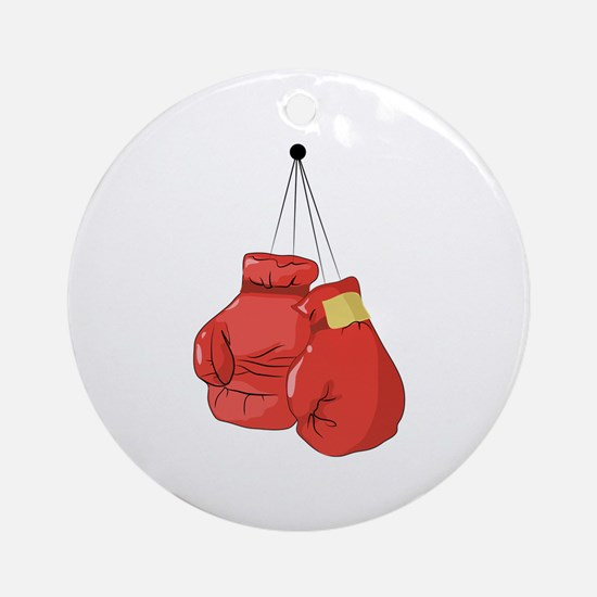 Boxing Gloves Ornament (Round)