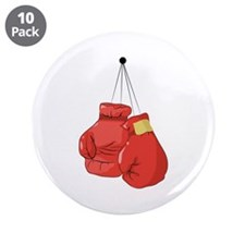 """Boxing Gloves 3.5"""" Button (10 pack)"""